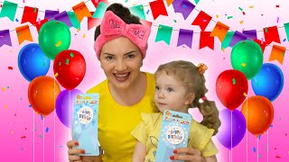 Happy birthday kids song. Birthday party with Sasha and  Lol. Story for kids by Sasha Kids Channel.