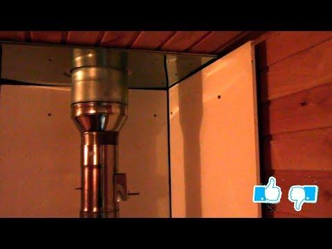 Защитный экран в парилке бани или теплозащита вагонки от нагрева печкой. Теплозащита стен.