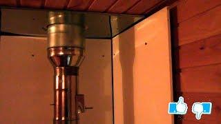 Защитный экран в парилке бани или теплозащита вагонки от нагрева печкой. Установка защитного экрана.
