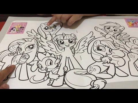 Zarra Mewarnai My Little Pony Belajar Bersama Zarra Cute
