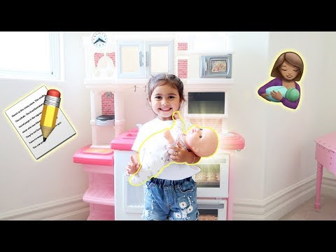 ELLE STARTS HER TRAINING TO BE A BIG SISTER!!! **IS SHE READY?**