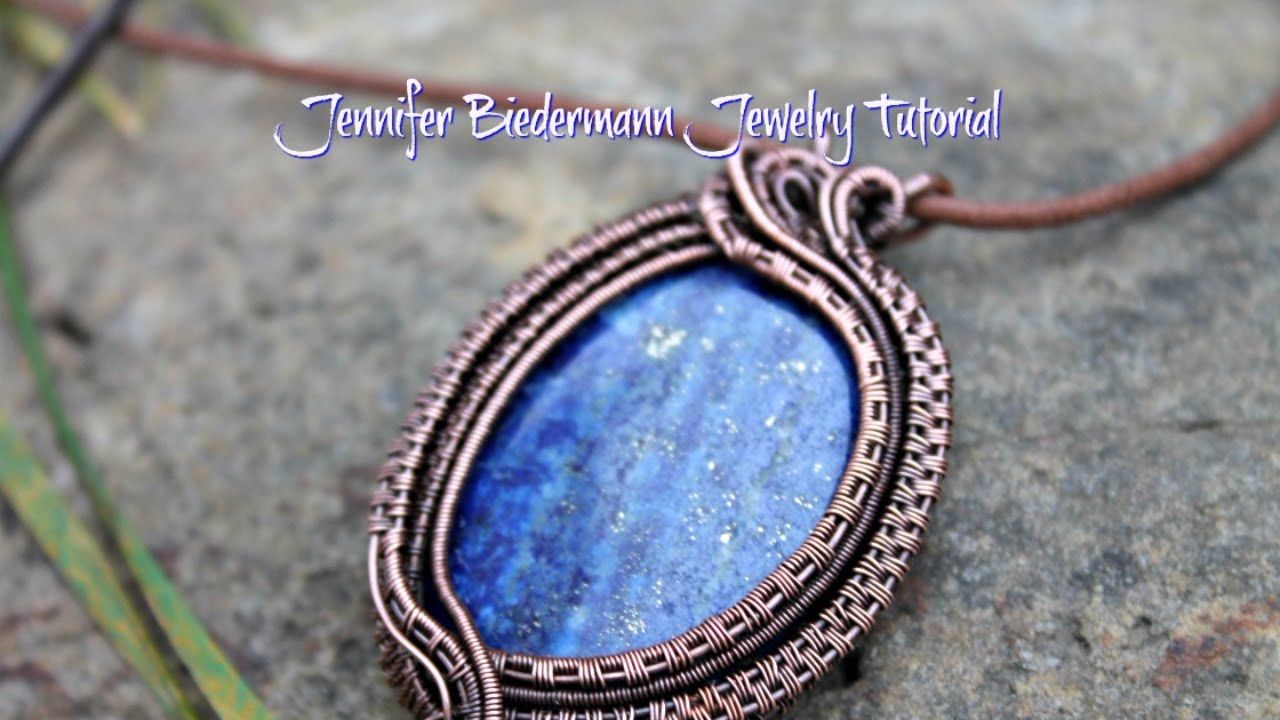 Layered wire weave pendant - YouTube