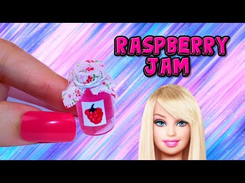 DIY Miniature Raspberry Jam - How to Make LPS Crafts Stuff Barbie Doll Accessories Dollhouse Things
