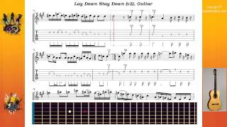Lay Down Stay Down (v2) - Deep Purple - Guitar