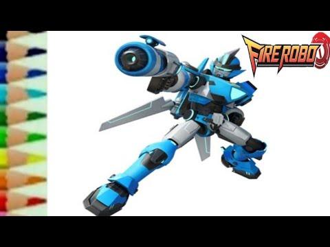 Belajar Menggambar Fire Robo Icarus Teotao Kartun Robot