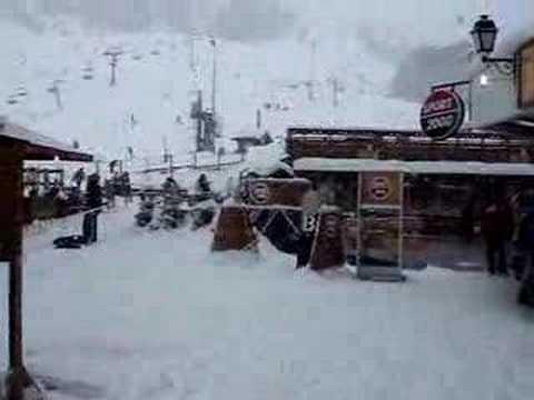 Sneeu in die Franse Alpe