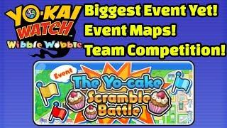 Yo-kai Watch Wibble Wobble - TEAM KOMASAN Yo-Cake Scramble Battle Event Playthrough!