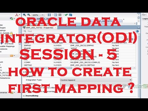 How to Create First Mapping in ODI - ODI - Oracle Data Integrator Tutorial - Session - 5