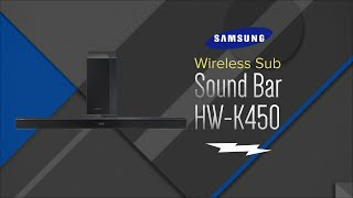 Unboxing: Samsung Black 2.1 Channel Sound Bar With Wireless Subwoofer - HW-K450/ZA