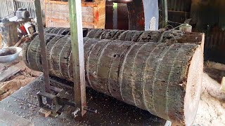 Old Technology: Wood Cutting Biggest Sawmill In Bangladesh