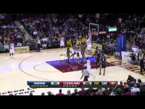Zeller ZIPS it to him for the Slam | Indiana Pacers Vs Cleveland Cavaliers | 12/21/2012 | NBA