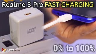 Realme 3 Pro FAST Charging Test VOOC 3.0   0% to 100% Charging Test   HINDI   Data Dock