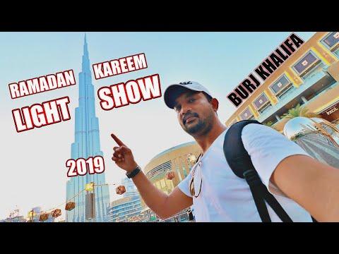 Ramadan Kareem Light Show Burj Khalifa | Dubai Mall | Vlog #186