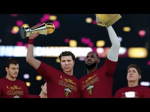 WINNING MY FIRST EVER NBA CHAMPIONSHIP WITH LEBRON JAMES! NBA 2K18