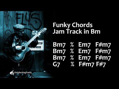 Cool Funky Groove Backing Track B Minor 110 Bpm