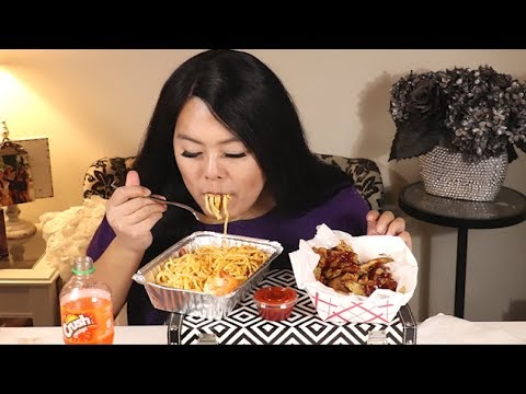 Garlic Butter Noodles and Chicken Wings from Wings N Things Mukbang!