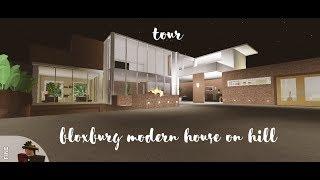 Bloxburg Modern House On Hill Tour ( Roblox