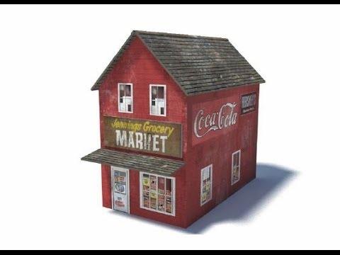 Model Railroad Buildings – Model Shop B427