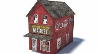 Model Railroad Buildings - Model Shop B427