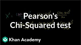 Pearson's chi square test (goodness of fit) | Probability and Statistics | Khan Academy thumbnail