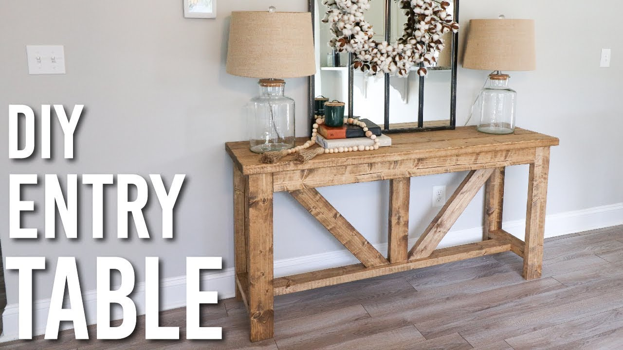 Diy Farmhouse Style Entry Table