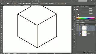 Ілюстратор підручник: креслення ортогональною куб з лінії інструментом | lynda.com