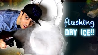 What Happens if you Flush Dry Ice Down a Toilet!?