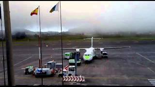 Nubes en el Aeropuerto de Tenerife Norte