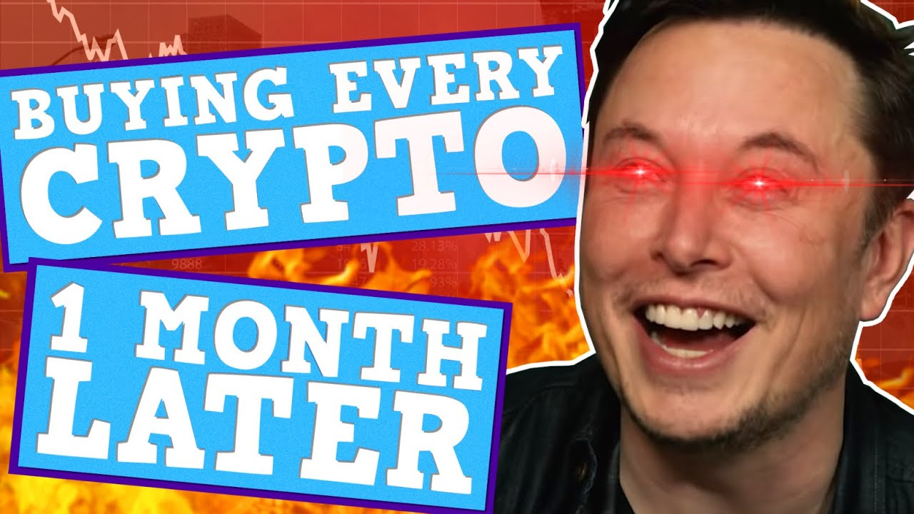 BUYING EVERY CRYPTO - What happened After 1 Month - Elon's Crypto Crash Is Perfectly Balanced