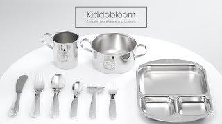 Kiddobloom Children Safe Dinnerware and Utensils
