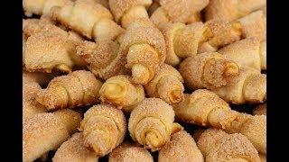 Любимое Всеми И Необыкновенно Вкусное Печенье - Сахарные Рогалики! Остановиться Невозможно!