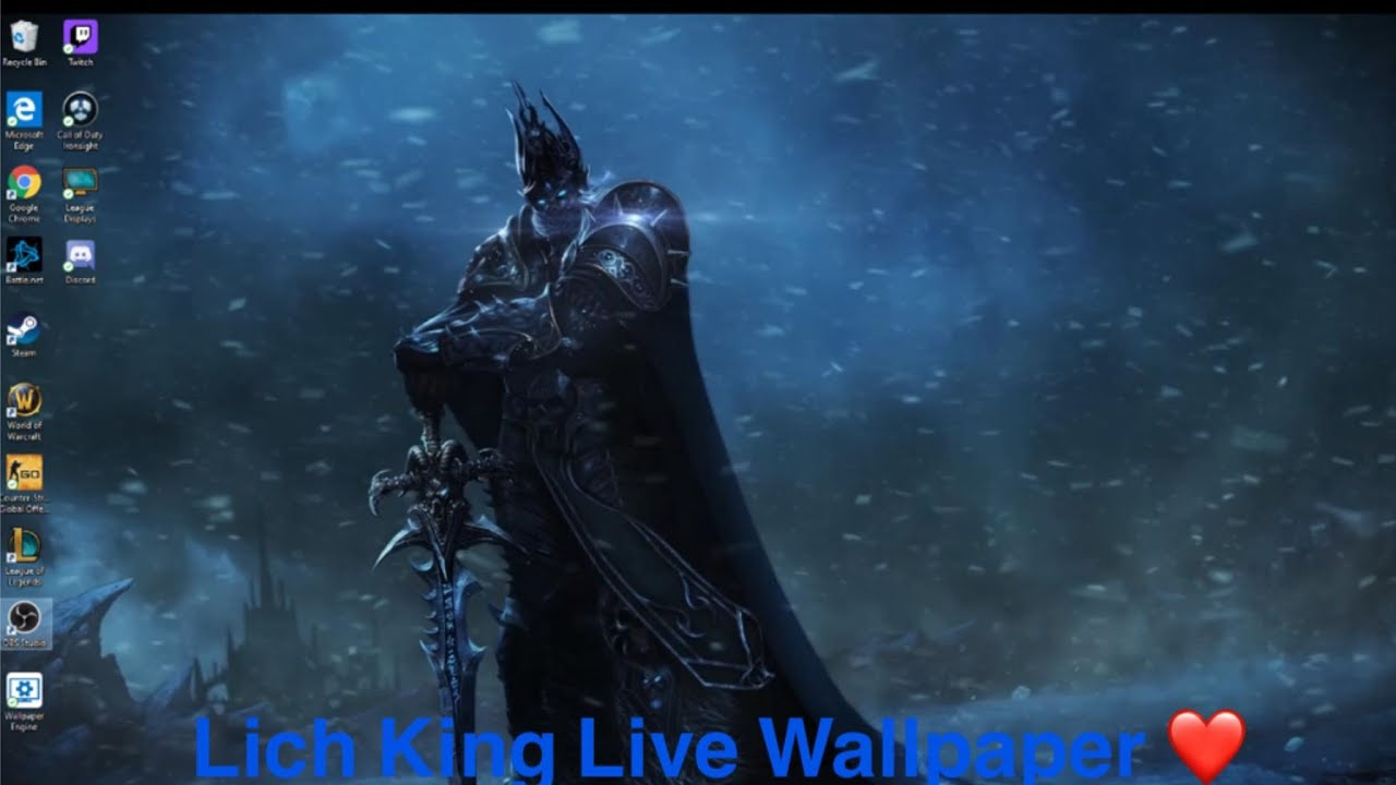 Tutorial Video How To Use Edit Wow Live Wallpaper Lich King