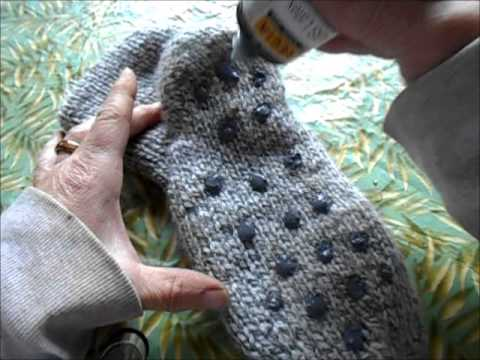Double Comfort Kiss Slipper Boots part 11 adding anti slip compound to the soles