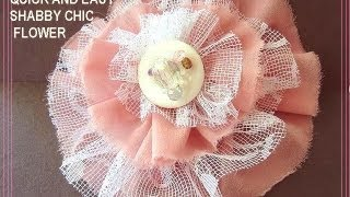 handmade QUICK AND EASY SHABBY CHIC FLOWER, free sewing fabric flowers pattern