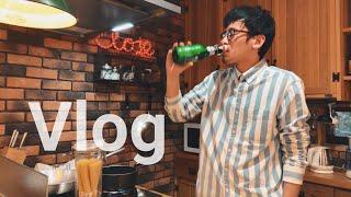 【Vlog】お家でお料理/iPhoneで撮影/商品を使って/お酒を飲みながら