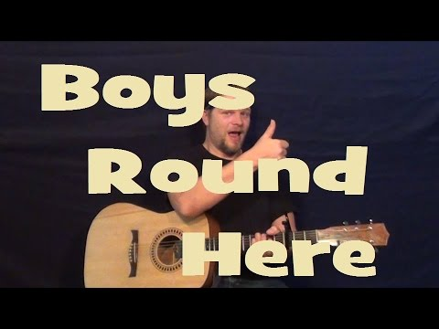 Boys Round Here (Blake Shelton) Easy Strum Guitar Lesson Chords How to Play Tutorial