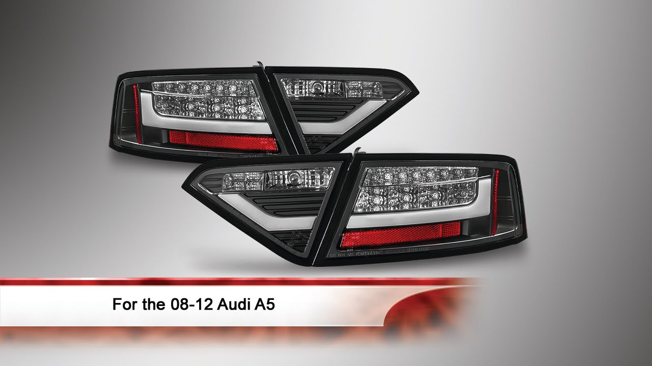 08-12 Audi A5 LED Tail Lights - YouTube