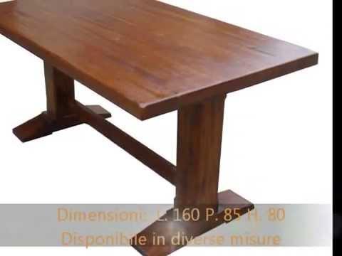 Tavolo tavoli fratini artigianali in legno massello invecchiati ...