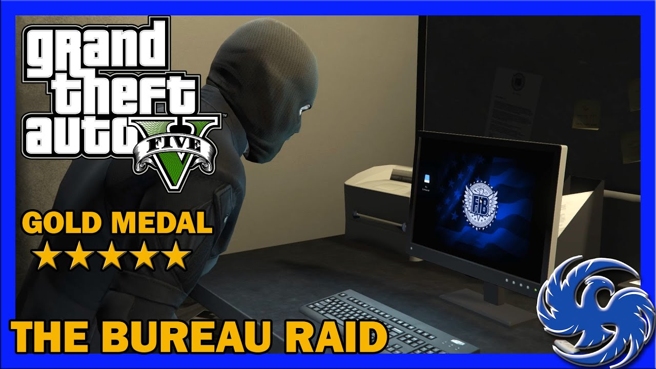 gta 5 the bureau raid roof entry mission 60 100