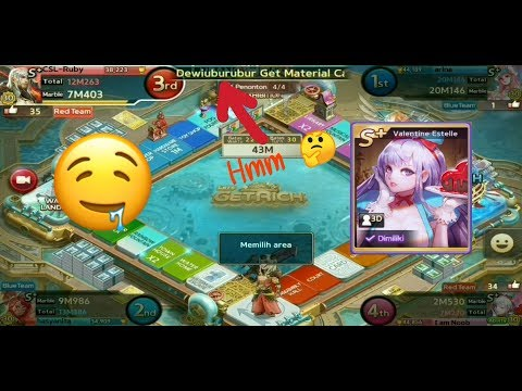 GAMEPLAY S+ VALENTINE ESTELLE !! COLLAB WITH Miss. RUBY ISHAK 😎 LINE LET'S GET RICH INDONESIA