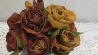 Розы из листьев.Мой метод))