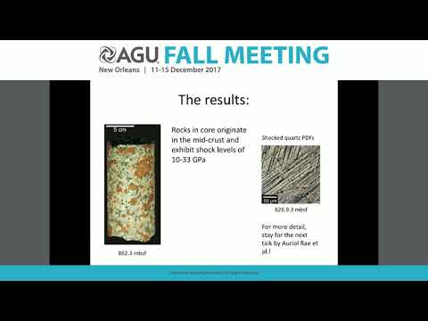 2017 Fall Meeting - P23H: The Chicxulub Impact and the Cretaceous/Paleogene Boundary
