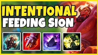 INTING SION IS BACK! SPLIT PUSH SION TAKING EVERY TOWER IN HIS PATH! - League of Legends