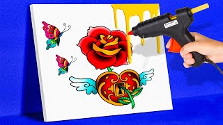 GLUE GUN HACKS || CLEVER DECOR AND DIY IDEAS WITH GLUE