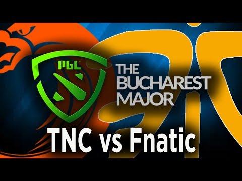 Tnc vs Fnatic Game 3, PGL Bucharest Major 2018 live, Universe 1st match to Fnatic