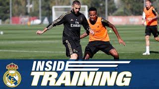 Training ahead of Atlético de Madrid