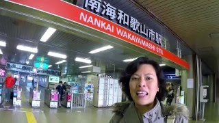 Kansai Thru Pass ใช้เดินทางมา Wakayama ได้ ลงที่ nankai wakayamashi station
