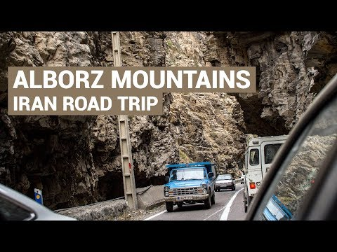 Drive through the Alborz Mountains in Iran