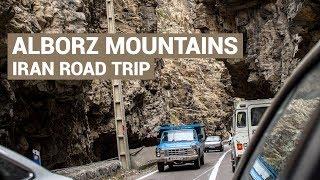 Drive through the Alborz Mountains in Iran