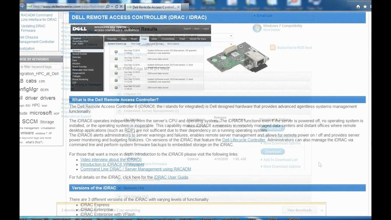 Dell iDRAC 6 Firmware Updates via GUI Interface